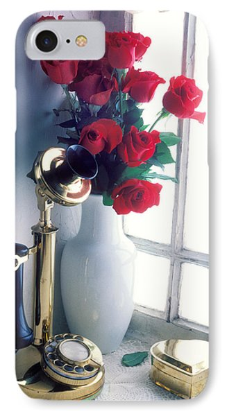 Candlestick Phone In Window Phone Case by Garry Gay