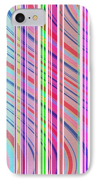Candy Stripe IPhone Case by Louisa Knight