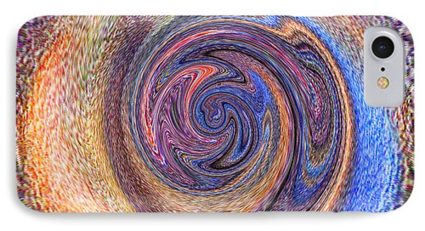 IPhone Case featuring the painting Candy Stripe Planet by Richard James Digance