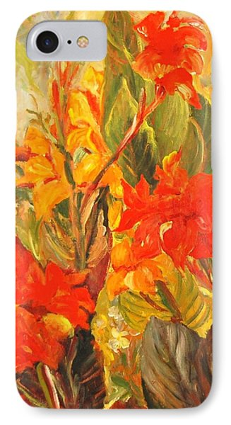 Canna Lilies IPhone Case by Alexandra Maria Ethlyn Cheshire