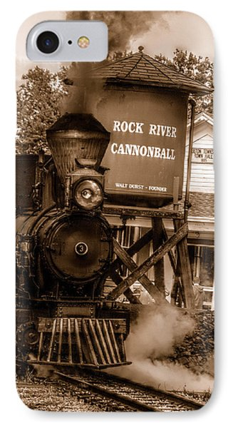Cannonball Express In Sepia IPhone Case by Janice Adomeit