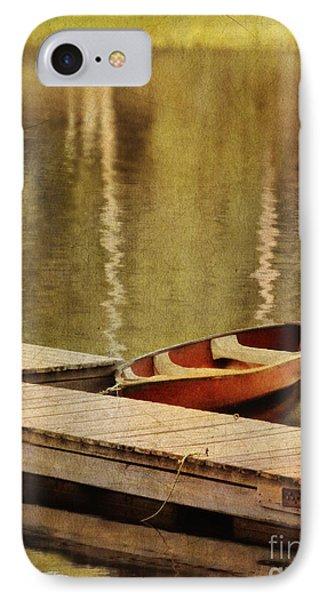 Canoe At Dock Phone Case by Jill Battaglia