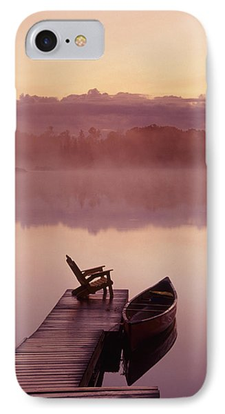 Canoe Dock, Pinawa, Manitoba Phone Case by Dave Reede