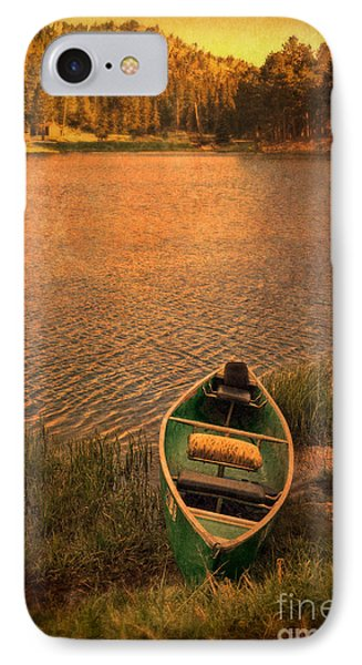 Canoe On Lake Phone Case by Jill Battaglia