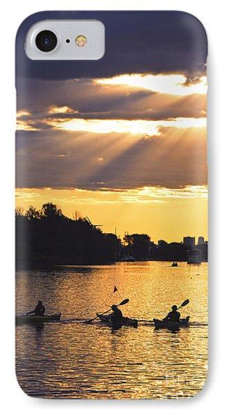 Canoeing IPhone Case by Elena Elisseeva