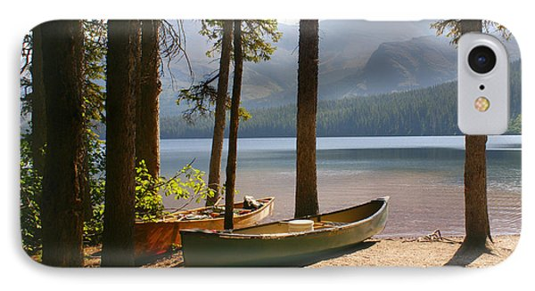 Canoes At The Ready Phone Case by Marty Koch