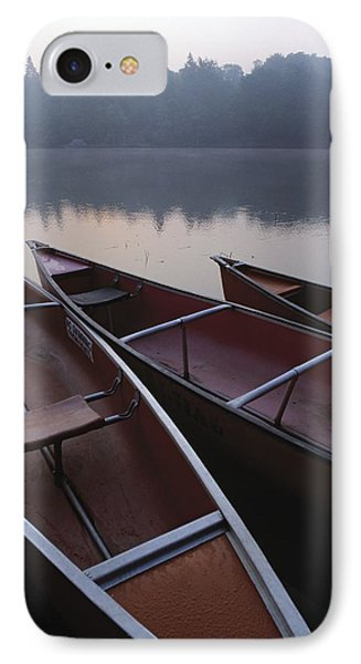 Canoes On Still Water Phone Case by Natural Selection John Reddy