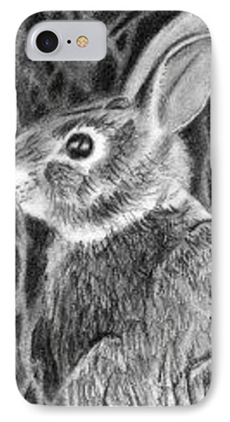 IPhone Case featuring the drawing Can't See Me - Aceo by Ana Tirolese