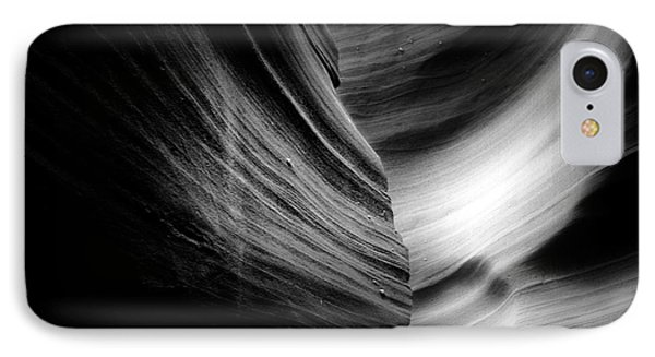 Canyon Curves In Black And White Phone Case by Christine Till