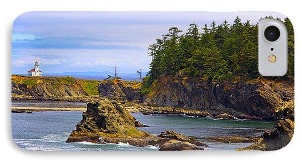 Cape Arago Lighthouse At Shore Acres IPhone Case by Craig Tuttle