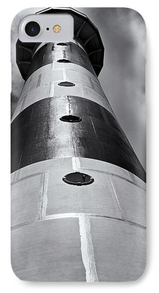 Cape Canaveral Lighthouse Black And White Phone Case by Roger Wedegis