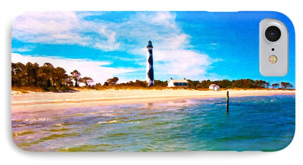 Cape Lookout Shore And Lighthouse IPhone Case