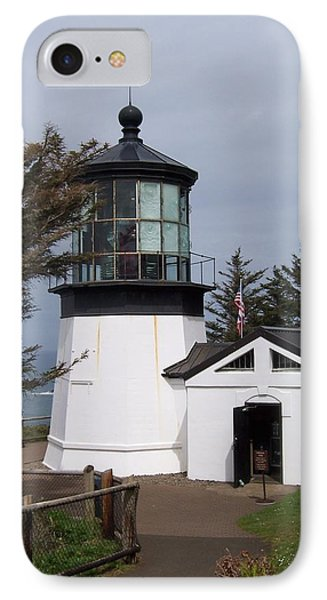 Cape Meares Lighthouse In Oregon IPhone Case by Peter Mooyman
