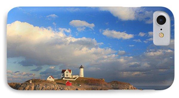 Cape Neddick Nubble Lighthouse Maine Phone Case by John Burk