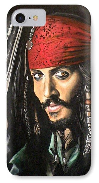 Captain Jack Sparrow Phone Case by Tom Carlton