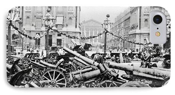 Captured German Guns At Palace De La Concorde In Paris - France Phone Case by International  Images