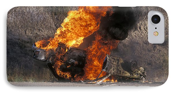 Car In Flames IPhone Case