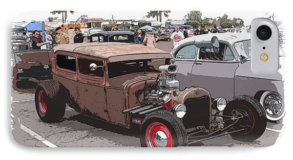 Car Show 1928 Phone Case by Steve McKinzie