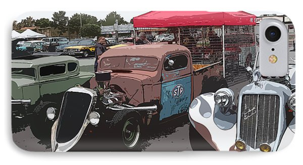 Car Show Hot Rods Phone Case by Steve McKinzie