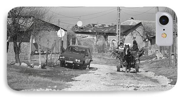Car Vs Horse Cart Phone Case by Gabriela Insuratelu