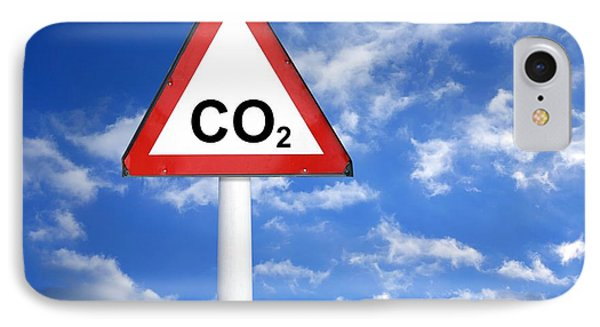 Carbon Dioxide And Global Warming Phone Case by Victor De Schwanberg