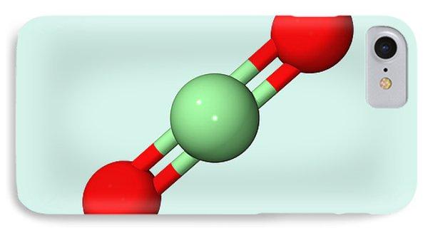 Carbon Dioxide Molecule Phone Case by Dr Tim Evans