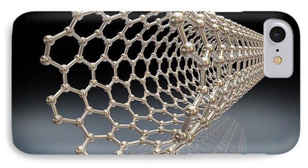 Carbon Nanotube, Artwork Phone Case by Miriam Maslo
