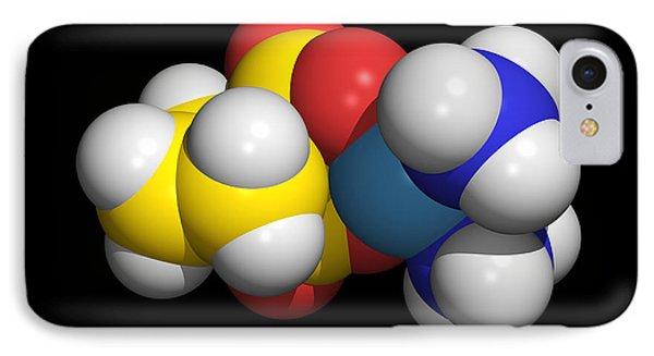 Carboplatin Molecule, Cancer Drug Phone Case by Dr Tim Evans