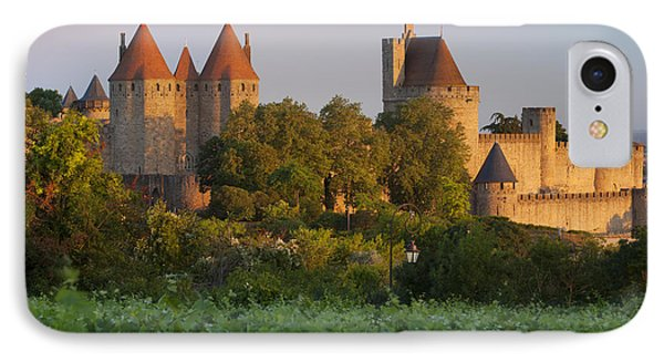 Carcassonne Dawn Phone Case by Brian Jannsen