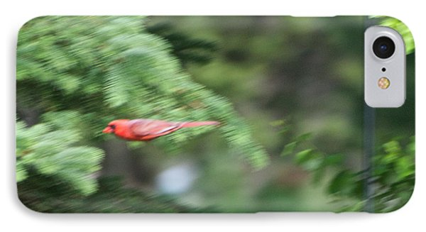 IPhone Case featuring the photograph Cardinal In Flight by Thomas Woolworth
