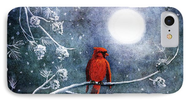 Cardinal On A Wintry Night IPhone Case
