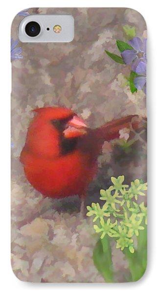 Cardinal Springtime Phone Case by Debra     Vatalaro