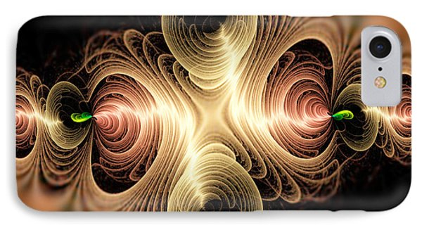 Caribbean Wave - The Beauty Of Simple Fractals Phone Case by Vidka Art