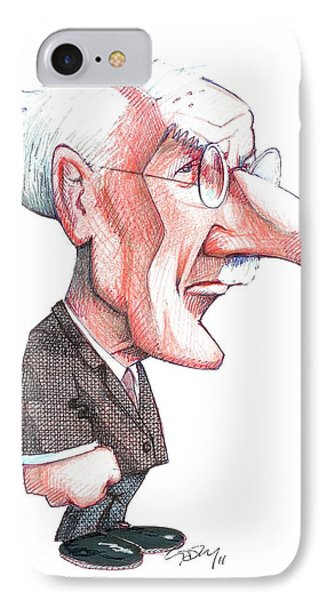 Carl Jung, Caricature Phone Case by Gary Brown