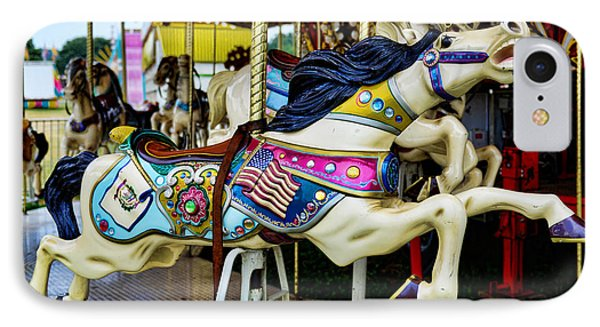 Carousel - Horse - Jumping Phone Case by Paul Ward