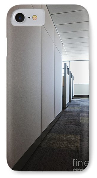 Carpeted Hall With Office Cubicles IPhone Case
