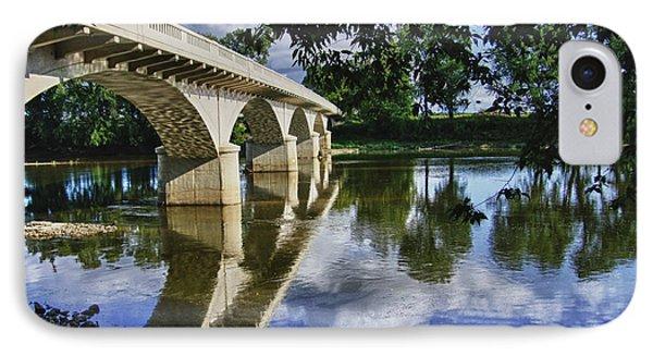 Carrollton Bridge Over The Wabash Phone Case by Jim Finch