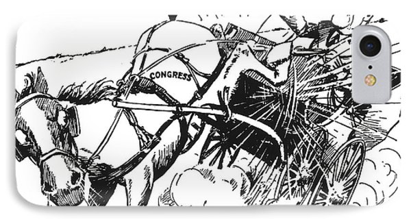 Cartoon: Fdr & Congress Phone Case by Granger