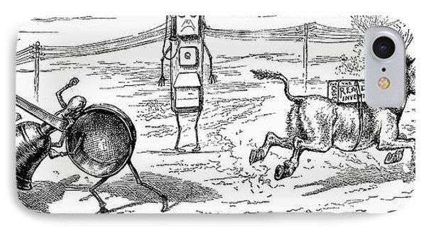 Cartoon: Telephone, 1886 Phone Case by Granger