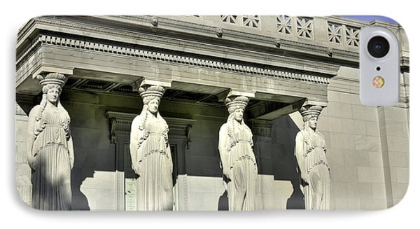 Caryatids At The Museum IPhone Case by David Bearden