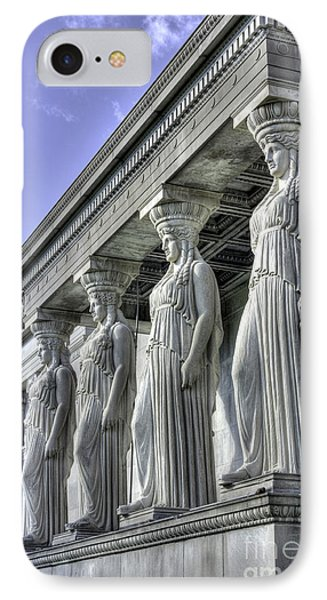Caryatids Of Science And Industry IPhone Case by David Bearden