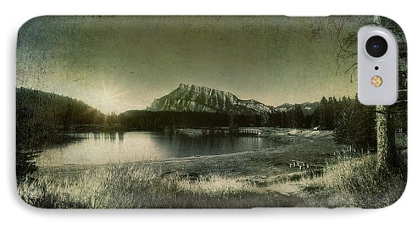 Cascade Pond Banff IPhone Case by Diane Dugas