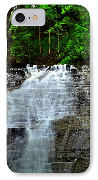 Cascading Falls Phone Case by Frozen in Time Fine Art Photography