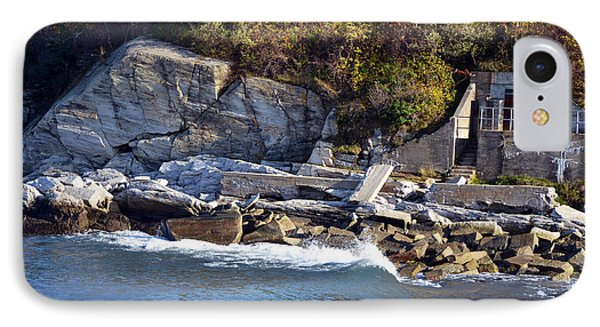 IPhone Case featuring the photograph Casco Bay Fort Area Scene by Maureen E Ritter