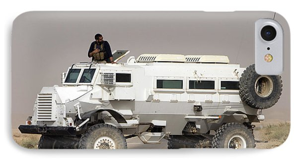 Casper Armored Vehicle Blocks The Road Phone Case by Terry Moore