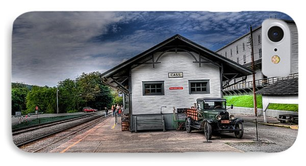Cass Train Depot IPhone Case by Todd Hostetter