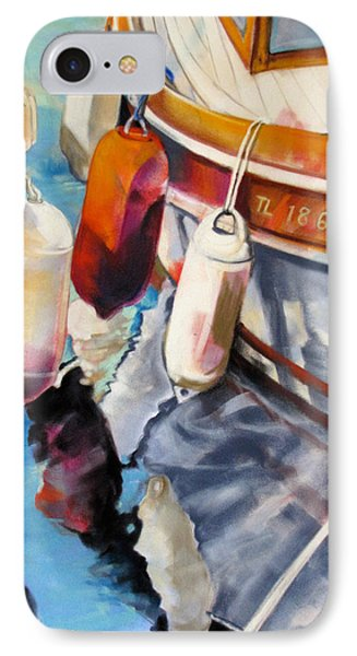 IPhone Case featuring the painting Cassis Castaways by Rae Andrews