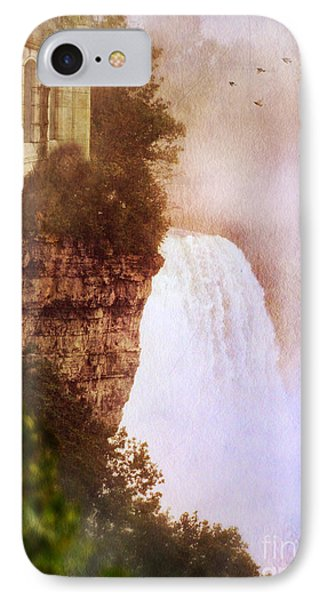 Castle At The Edge Of The Falls Phone Case by Jill Battaglia