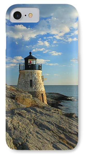 Castle Hill Lighthouse Newport Rhode Island Phone Case by John Burk