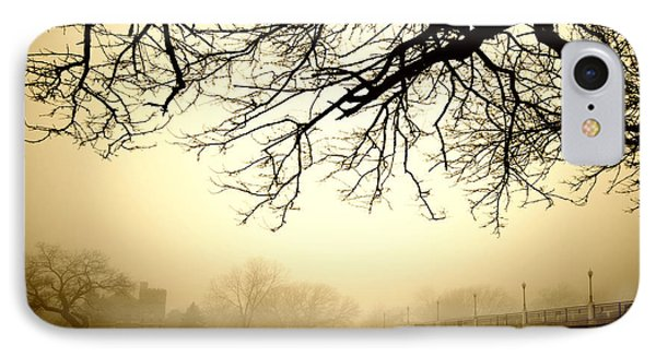 IPhone Case featuring the photograph Castle In The Fog by Brian Duram